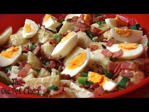 Classic Potato Salad (with Bacon and Egg) | One Pot Chef