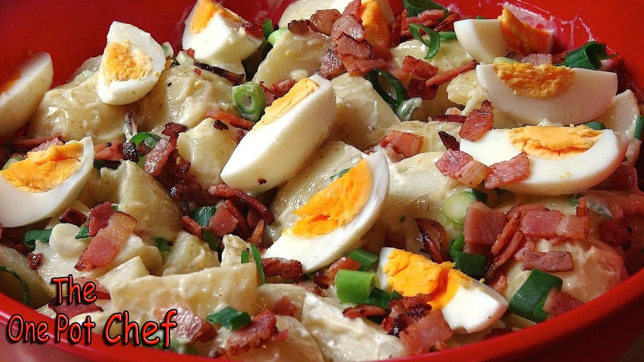 Classic potato salad with bacon and egg one pot chef youtube forumfinder Image collections