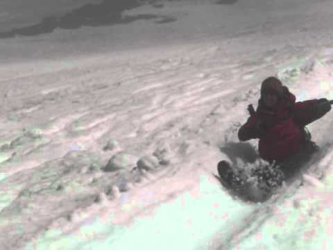 Mount Villarrica - more bum sliding