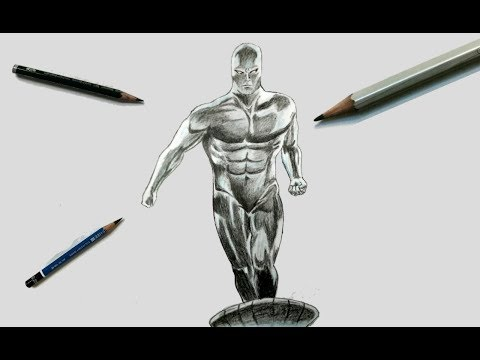 Drawing Silver Surfer Comic Version with Timelapse || Trinankur Neogi