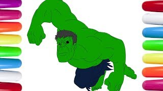 THE AVENGERS Coloring Pages | Hulk Coloring Pages for Kids |How to Draw The Incredible Hulk Coloring
