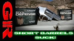 Short Barrels Suck! - Liberty Ammo 357Mag + 38SPC Gel Test