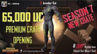 PUBGM Premium crate opening using 65000UC   Got Invader set and more!