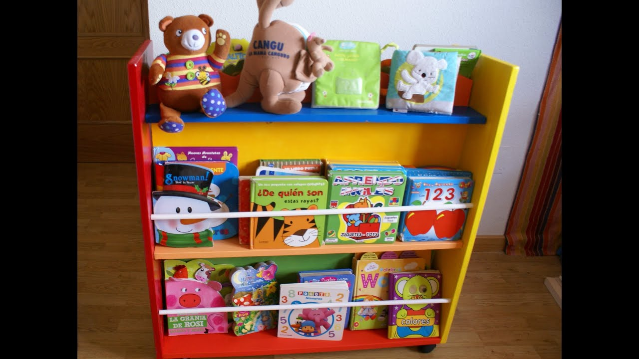 Videotutorial biblioteca infantil youtube for Mueble libreria infantil