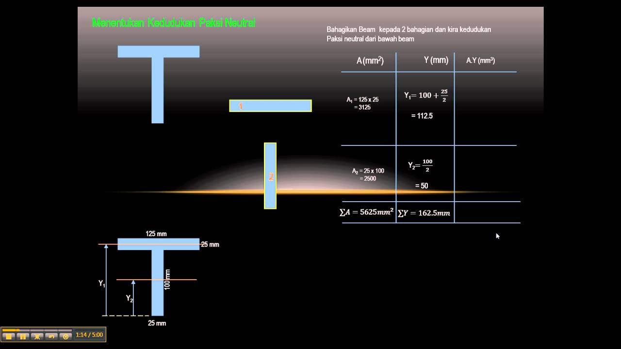 819 inverted t-section | moment of inertia | engineering mechanics.