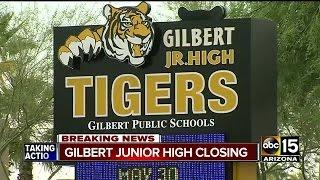 Gilbert Junior High School closing due to declining enrollment