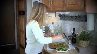 Rv Cooking Show - Baked Goat Cheese Salad And A Walnut Honey Sauced Brownie