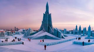 Video of Harbin's ice theme park gifted to 17 ambassadors to China