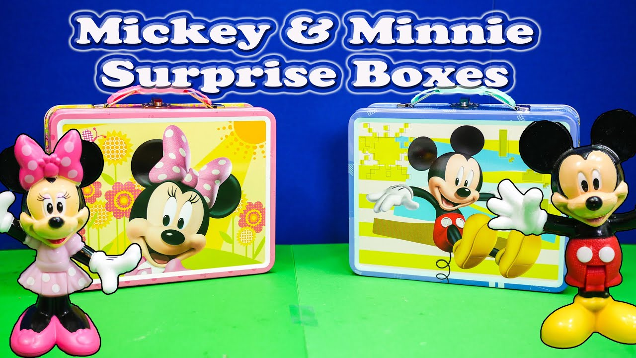 Openign Mickey And Minnie Surprise Lunch Boxes Toys
