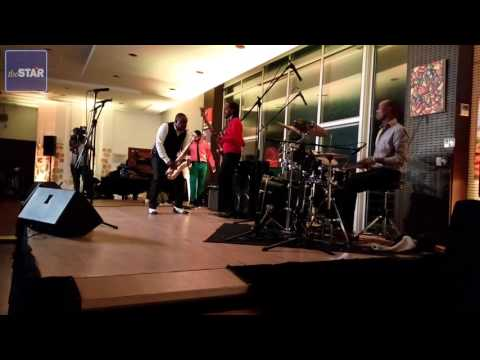Edward Parseen and the Different Faces Band perform at the Night of Kenyan Jazz