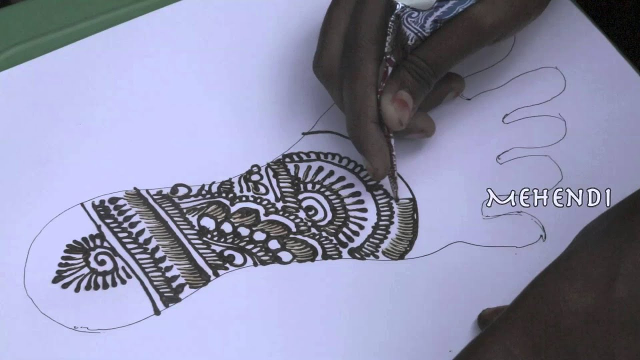 Indian mehndi designs 2016 - Latest Indian Arabic Mehndi Design For Leg 2016