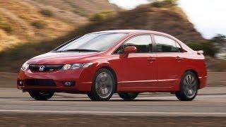 2009 Honda Civic Si Sedan Rallye Red POV test drive