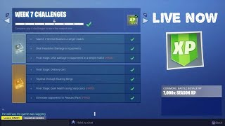 Fortnite - Season 6 - Completing Week 7 Challenges and Unlocking the Hunting Party Skin - Live