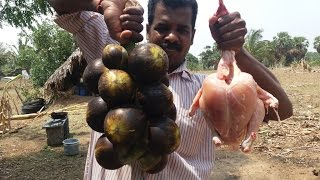 Cooking Toddy Palm Fruit Chicken in Our Farm / Amazing Taste / Food Money Food