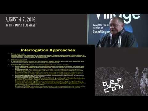 DEF CON 24 - SE Village - Robert Anderson - US Interrogation Techniques and SE