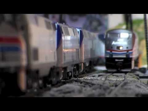 Thumbnail: Some of My HO Scale Amtrak Trains In Action! 8.11.14