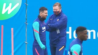 Koeman jokes with Messi before Sevilla tie | La Liga | 2020/21 | Behind-the-Scenes | WeShow Football