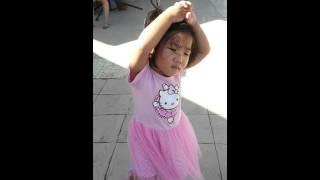 2 years old cute baby girl dancing ballet