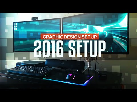 2016 Graphic Design Work Setup