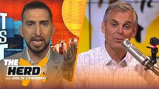 Nick Wright isn't buying Lakers dysfunction report, talks KD to Knicks, AD & Zion | NBA | THE HERD