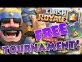 FREE PASSWORD 200 PERSON TOURNAMENT!!  :: Clash Royale - Live Stream