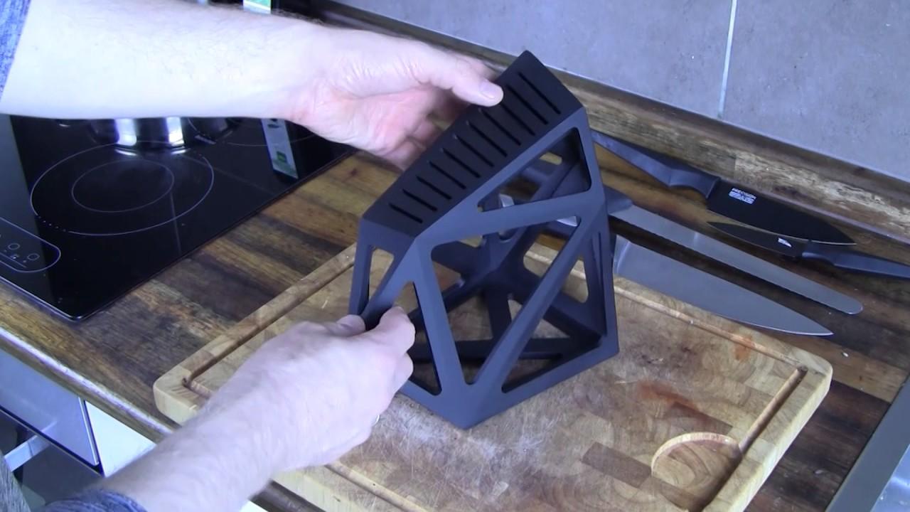 Knife Block Without Knives Black