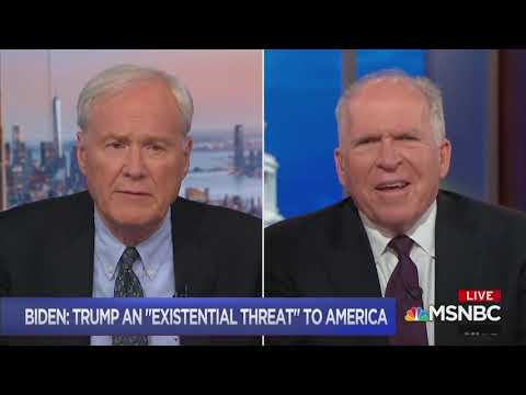 Brennan agrees with Biden: Trump is existential threat to the nation
