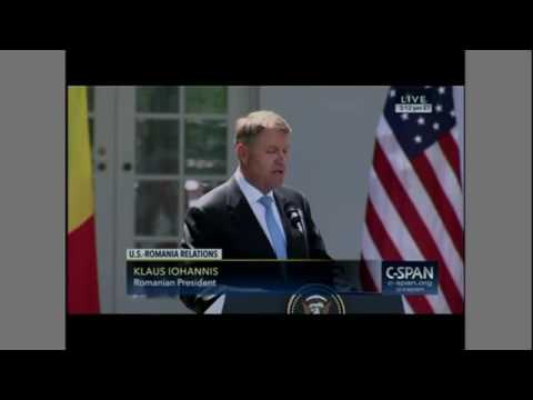 President Trump is contradicted within seconds by Romanian President Iohannis
