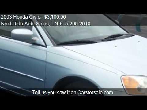 2003 Honda Civic Sedan with CVT - for sale in Murfreesboro,