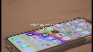 what's on my iphone x (2017)