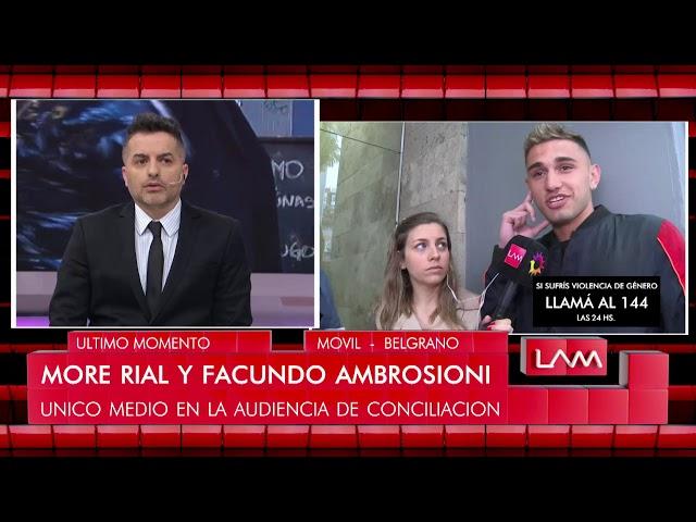 Facundo Ambrosioni después de la conciliación con More Rial