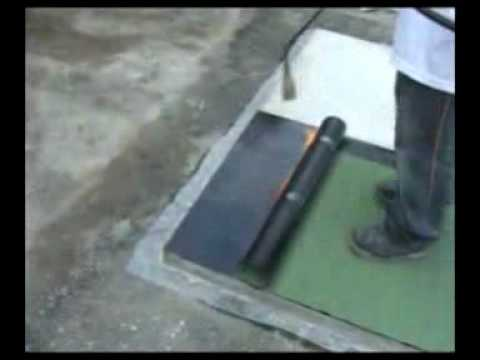 Torch Applying Bituminous Sheet Waterproofing Membrane