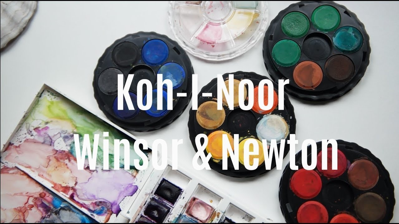 Winsor Newton Vs Koh I Noor Watercolor Brand Comparison