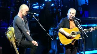 Paul Simon and Sting sing Simon and Garfunkel =] The Boxer [= Feb 8 2014 - Houston, Tx