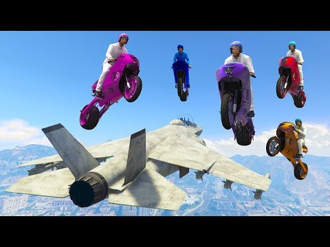 SURVIVE THE DEADLY BIKE ONSLAUGHT! (GTA 5 Funny Moments)