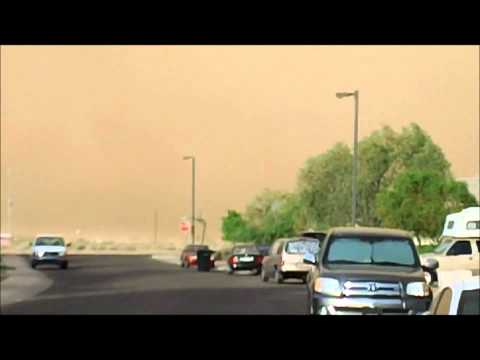 Arizona monsoon dust storm in Casa Grande (Pinal County)