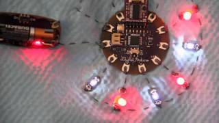 Lilypad Arduino & Heartbeat from Pulse Sensor