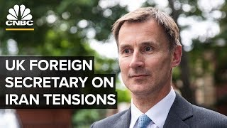 British Foreign Secretary Jeremy Hunt on Iran tanker seizure – 07/22/2019