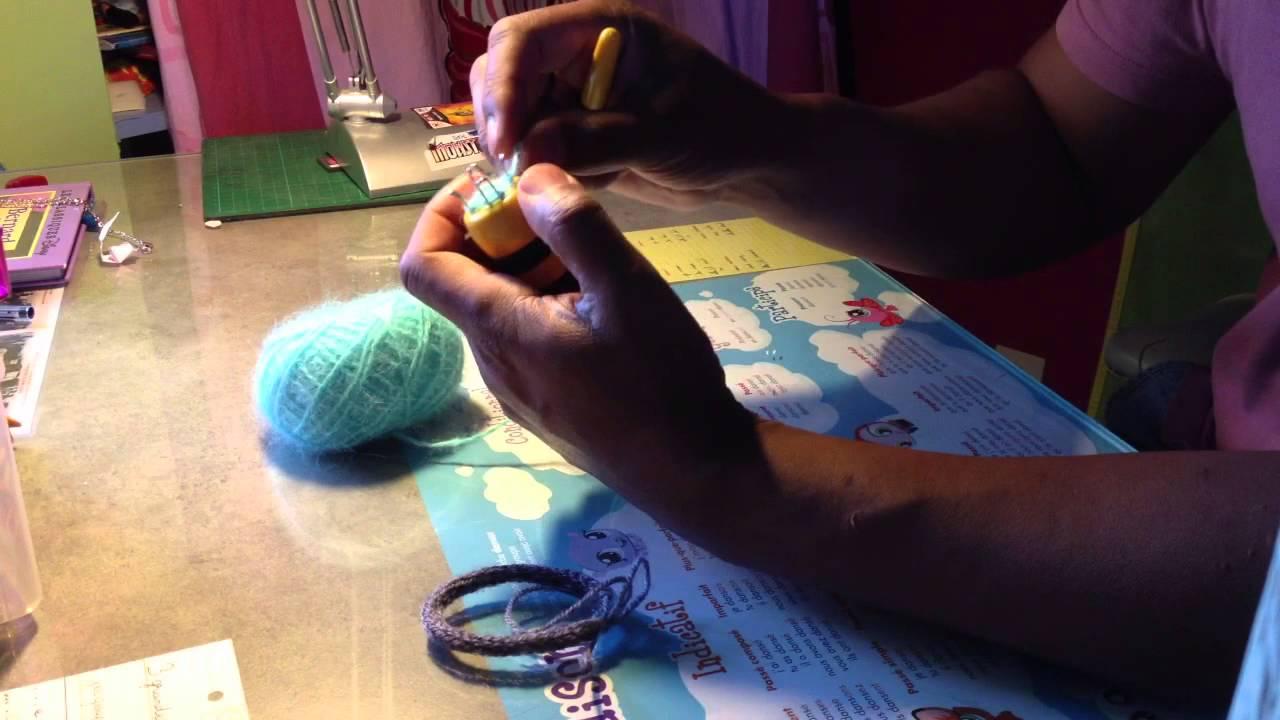 fabriquer un bracelet avec un tricotin bijoux maison. Black Bedroom Furniture Sets. Home Design Ideas