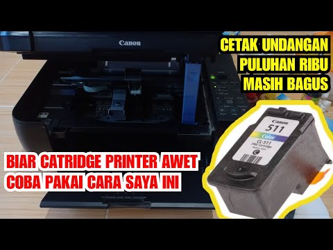 Tutorial mengisi ulang tinta di Cartridge Canon Ip2770.