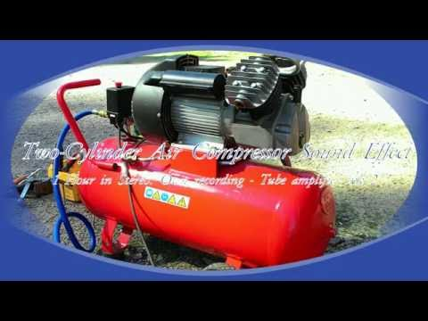 Two-Cylinder Air Compressor Stereo Sound Effect, 1 Hour