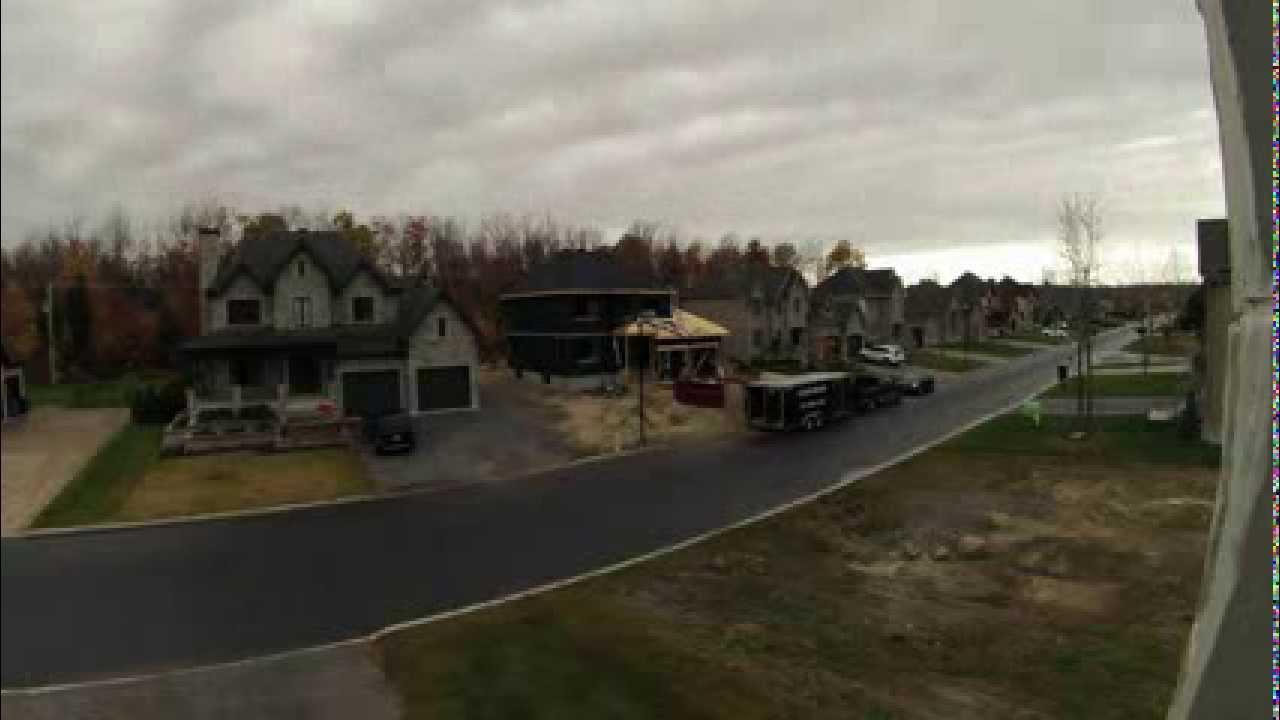 time lapse construction maison neuve trois rivi res pose de bardeaux de toiture youtube