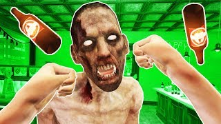 Punching Zombies in VR! - Drunkn Bar Fight on Halloween Gameplay - HTC Vive VR