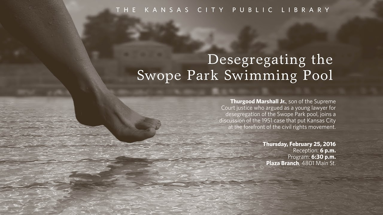 Desegregating the swope park swimming pool february 25 2016 youtube for Public swimming pools kansas city