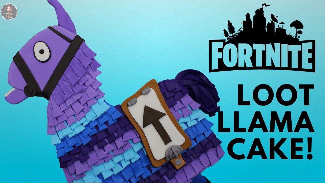 Fortnite Loot Llama Cake Tutorial Youtube