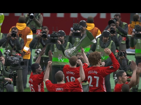 PES 2017 UEFA Europa League Final (Manchester United vs A.S. Roma Gameplay)
