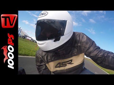 Arai RX-7V Test | Isle of Man TT 2015 | Action, Fazit