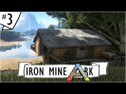 Ark: Survival Evolved :: Ep. 3 :: Cragg's Island Cabin with a View :: Iron Mine SMP Let's Play