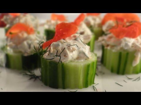 Smoked Salmon Cucumber Cups Recipe - Using Chilled Hot Smoked Salmon