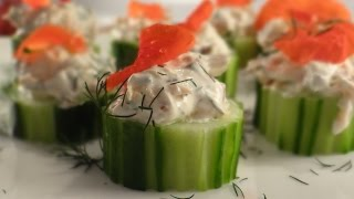 Smoked Salmon Cucumber Cups Recipe - Using Chilled Hot Smoked Salmon